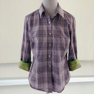 12 J. McLaughlin Lavender Button Down Oxford Shirt